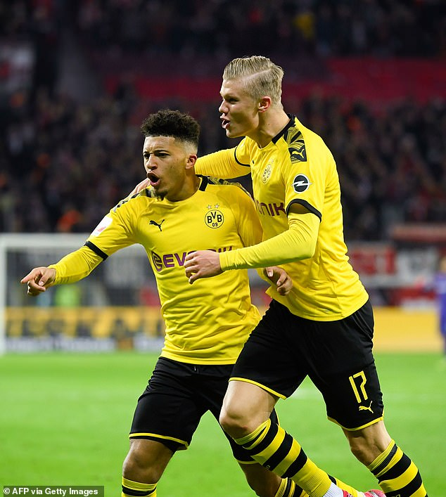 Jadon Sancho (left) is considered more valuable than his teammate Erling Haaland (right)