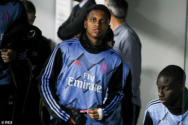 Real Madrid forward Rodrygo is just behind Haaland and Sancho in order to catch
