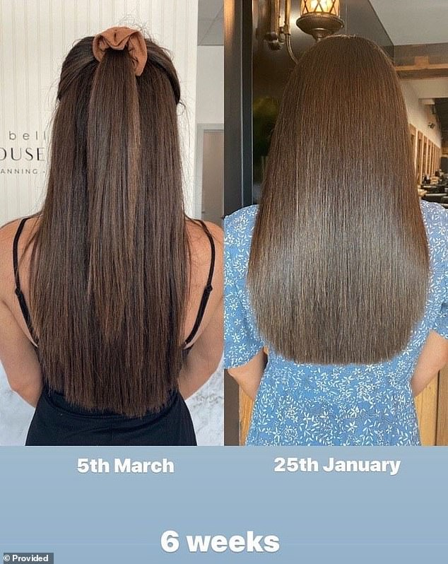 Tahnee Louise, 24, shared the results with JSHealth Vitamins owner Jessica Sepel, calling her $44.99 Hair + Energy tablets 'incredible'