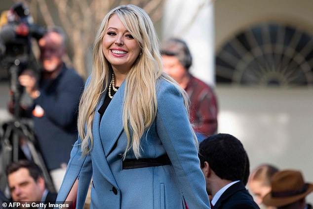 Tiffany Trump (pictured last November) tweeted that the United States has