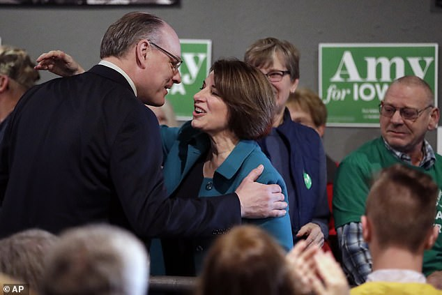Klobuchar and her husband last month. She said the hardest thing about the virus was not being able to see him or visit him