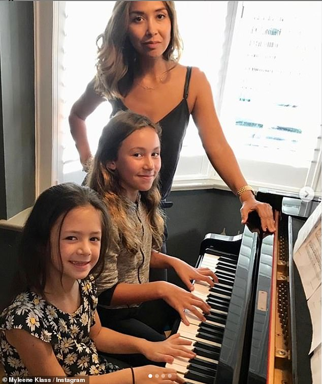 Teacher: Myleene has grand plans during the coronavirus crisis, declaring 'I want to be the nation's music teacher!' as she launches her online Music Klass