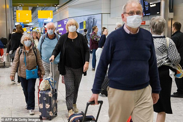 Travelers on board the Braemar arrive in Heathrow March 19.This came after 28 people self-isolated on the ship after either testing positive for the coronavirus or displaying flu-like symptoms