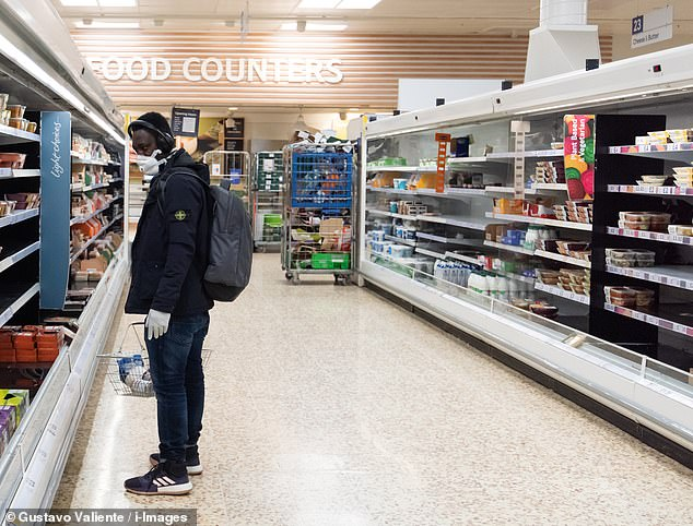 Tesco has cleared its fridges of skimmed milk as part of a stripped-back product range to prioritse essential items during the coronavirus lockdown