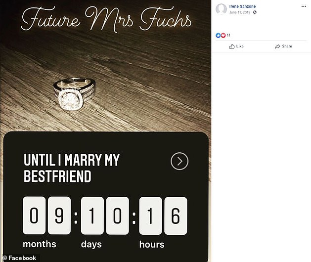 The couple have been together more than five years and got engaged in June 2019