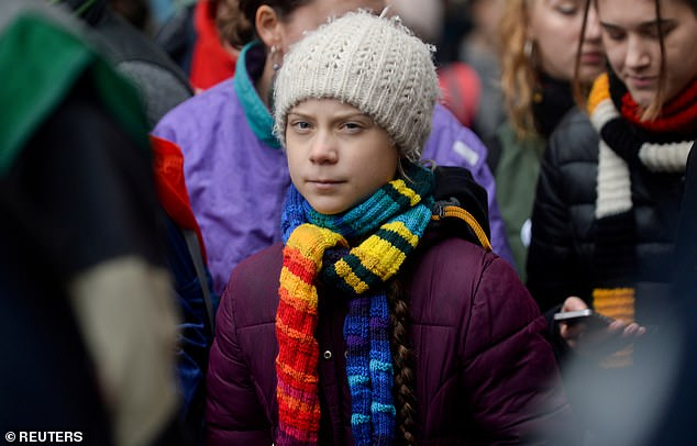 Swedish climate activist Greta Thunberg taking part in the rally ''Europe Climate Strike'' in Brussels earlier this month
