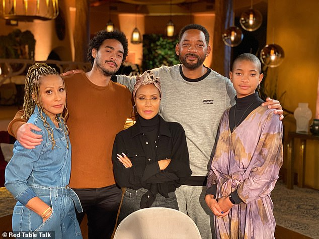 'He's being a responsible human': Jada also explained why her 21-year-old son Jaden was absent from the discussion