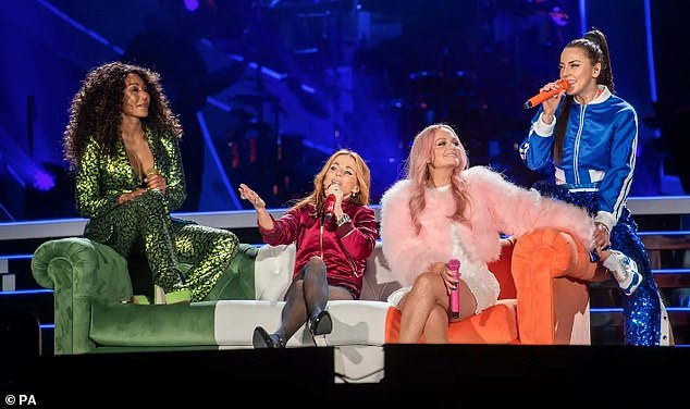 Foursome:Mel reformed with Emma Bunton, Geri Horner and Mel B last year to take on a 13-date tour of the UK