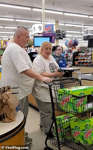 A crazed couple attempted to purchase 552 cans of Mountain Dew at a Krogers in Kentucky
