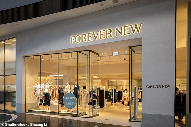 Forever New (pictured) closed the doors on all of its Australian stores this morning