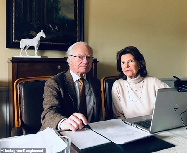 SWEDEN: King Carl XVI Gustaf and Queen Sylvia have been at Stenhammar's castle in Södermanland for some time. The couple this week shared this photo on Instagram
