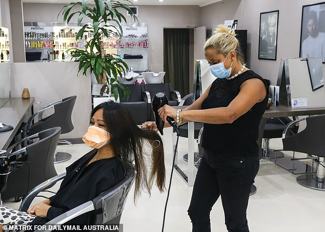 Hairdressers and barbers are exempt from business closures, however all businesses must practice social distancing and restrict the amount of people on the premises