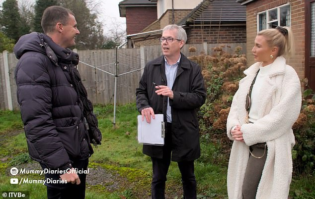 Uh oh: Billie and Greg lock horns over their house plans as they get ready to renovate their new home in Wednesday night's Mummy Diaries