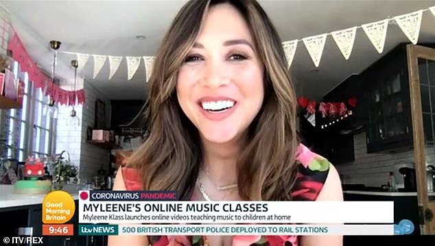 'I'm trying to stay SANE': Myleene told GMB on Wednesday why she's teaching the nation the piano as she urges others to look after their mental health during 'lockdown'