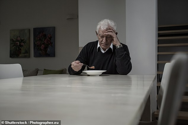 The coronavirus crisis and the lockdowns needed to combat it could cause a loneliness epidemic in older adults, a study has revealed (stock image)