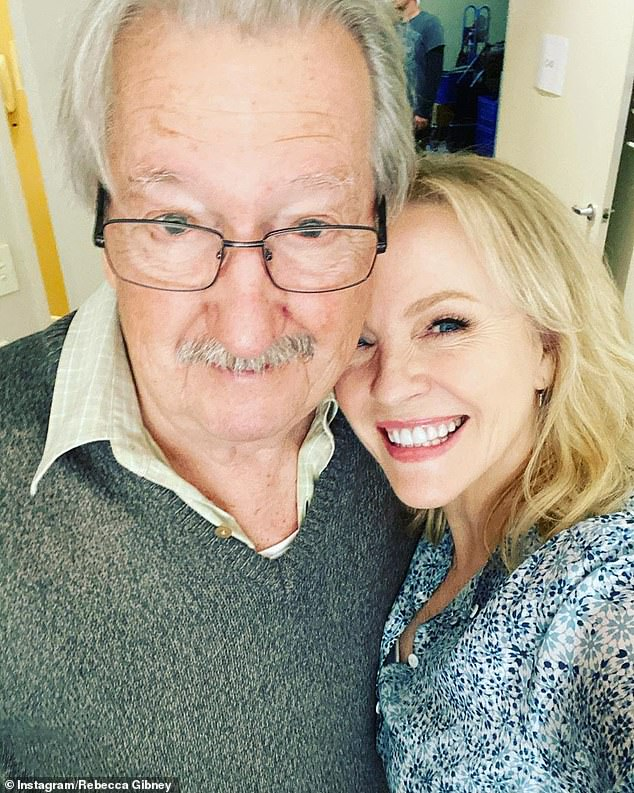 Caring! On Wednesday, Rebecca vowed to do whatever it was going to take to protect her loved-ones against this 'mother of a virus'. Pictured with co-starMichael Caton, 76