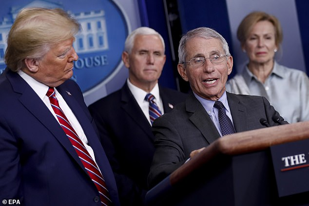 Skepticism: When Donald Trump spoke about chloroquine at a press briefing in the White House, Tony Fauci warned: `` The information to which you refer is anecdotal, it was not communicated during a controlled trial , therefore you cannot make a definitive statement on this subject.
