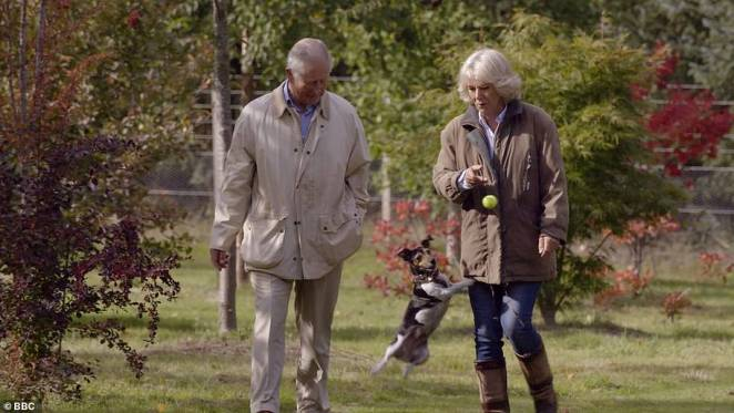 Charles and Camilla at the Arboretum at Birkhall in the BBC documentary 'Prince, Son and Heir: Charles at 70' in November 2018