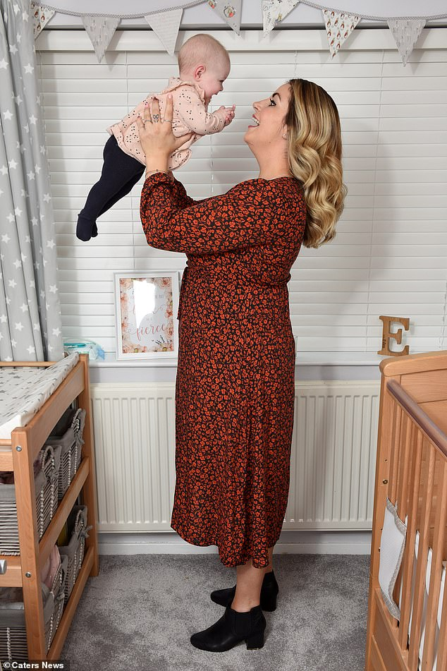 Jade said nothing could have prepared her for being a mother, but that she delighted in every aspect of her life with Eden (pictured)