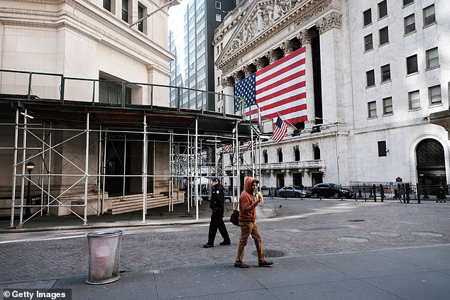 Sorry scenes - Wall Street in New York is almost empty in the middle of the Covid-19 epidemic
