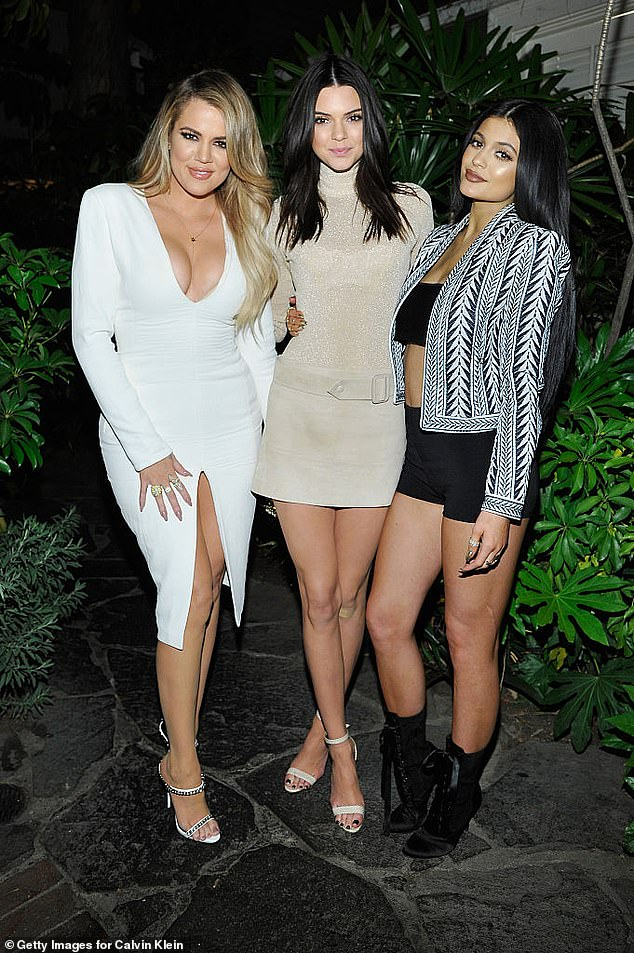 Khloe Kardashian, Kendall Jenner and Kylie Jenner at a Calvin Klein Jeans' event at Chateau Marmont in 2015