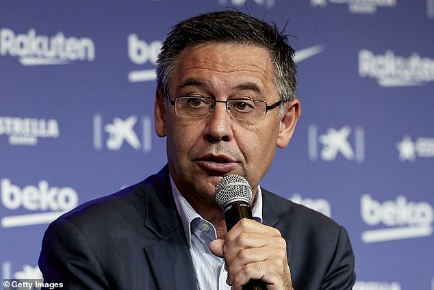 Barcelona president Josep Maria Bartomeu is hoping to secure a deal with the players to slash the club's wage bill during the pandemic