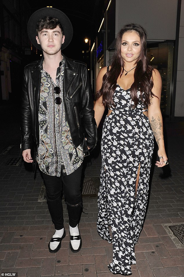 The ex files: The Romford native said she would struggle to overcome the breakdown of her past relationship (pictured with ex-fiancé Jake Roche in 2015)