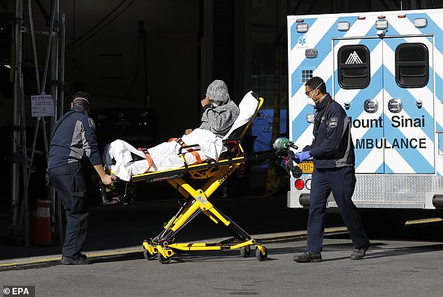 In New York, while the Javits Convention Center is becoming a temporary hospital, medical facilities in the area are already so blocked that patients requiring critical medical care are sent elsewhere by ambulance to other facilities