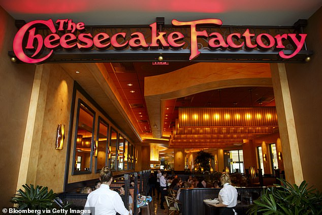 The Cheesecake Factory's chief financial officer says the chain was hopeful landlords would show some understanding. Pictured is one of the chain's locations in the Canoga Park neighborhood of Los Angeles, California
