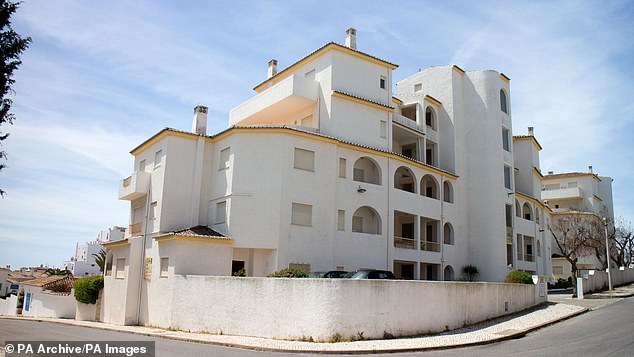 She disappeared from apartment 5A in Praia Da Luz in Portugal, pictured, in 2007, while her parents were dining in a nearby tapas restaurant