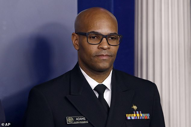 Dr. Jerome Adams (pictured) told Good Morning America that some areas in the United States may be closed until Labor Day