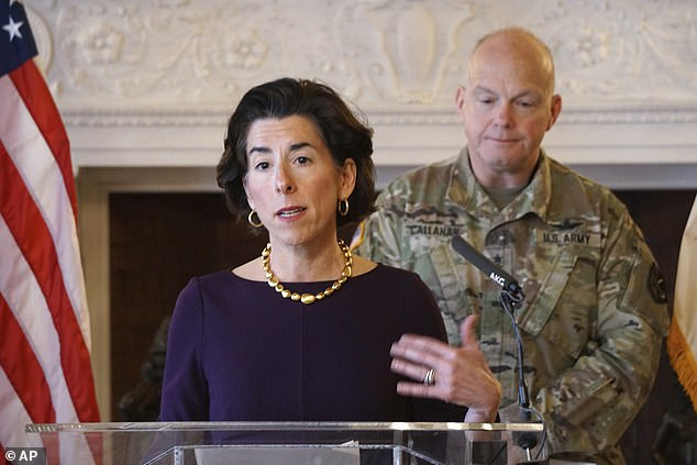 Rhode Island Governor Gina Raimondo instead has expanded the order to include 'any person' coming to Rhode Island from another state to 'immediately self-quarantine for 14 days'