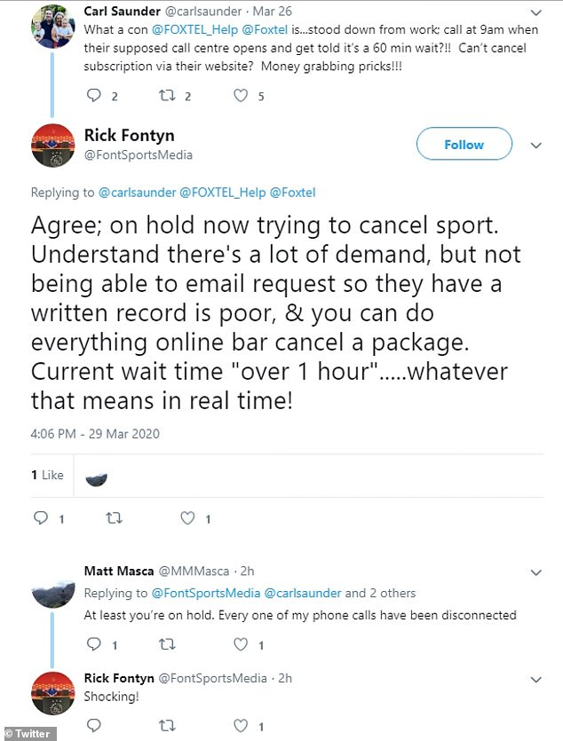 Foxtel customers have since tried to cancel or downgrade their memberships as they are no longer watching sport but have found they have been unable to.