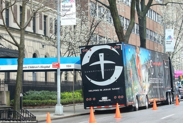 Mount Sinai Hospital at 100th st and Madison Avenue in New York City has an abundance of disaster relief trucks