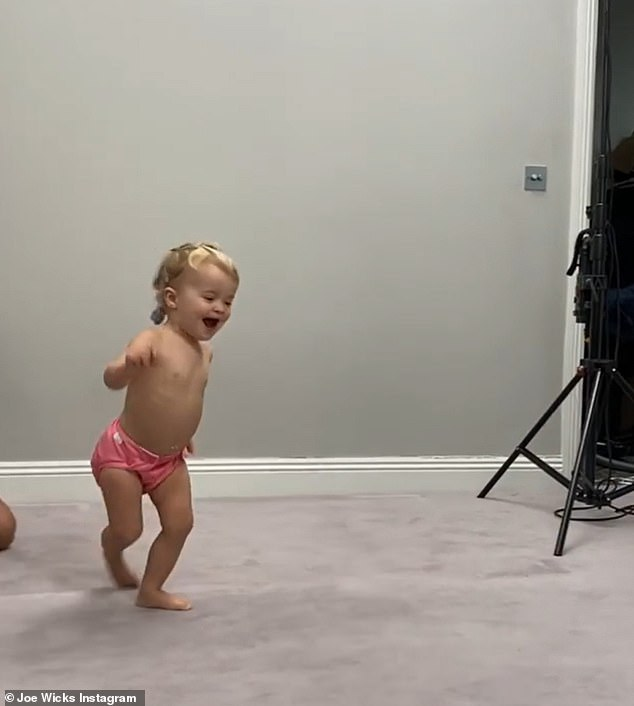 Cute: the fitness star celebrated with her adorable children, Indie, two years old and Marley, three months old