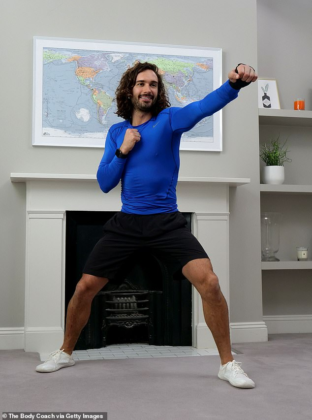 Struggles: Body Coach star, 33, who moved the nation during the crisis with his daily P.E. lessons, revealed that he had endured a hard day