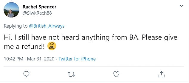 Other passengers say they simply couldn't reach someone from BA's customer support teams