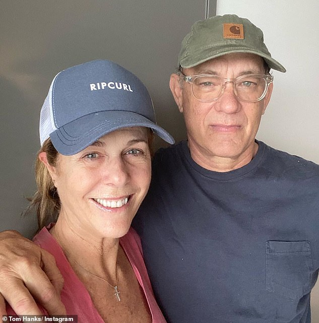 Embattled: Other celebrities include Tom Hanks and his wife Rita Wilson, who tested positive for the virus in Australia