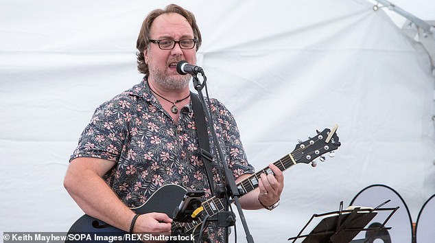 Mitch, who began his acting career in Edinburgh, performing his show '10 songs to save the world' on the first day of the 'Comedy Crate' festival in Northampton, United Kingdom, July 13, 2019