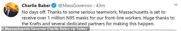 Massachusetts Governor Charlie Baker Thanks