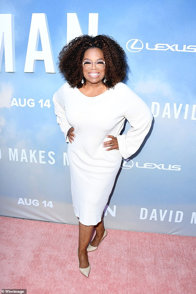 Having an outlet: On top of her $10 million donation, Oprah has been helping people get through the pandemic with her AppleTV+ series, Oprah Talks COVID-19 (pictured August 2019)
