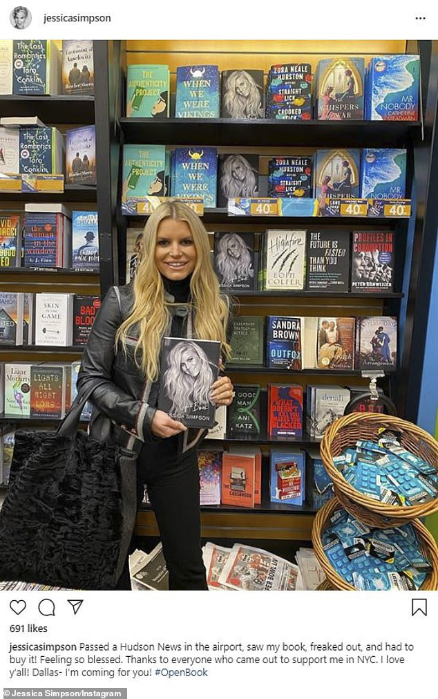 Honesty: Jessica's memoir Open Book has seen an increase in sales along with Carrie Underwood's book, Find Your Path: Honor Your Body, Find Your Soul, amid the Covid-19 pandemic