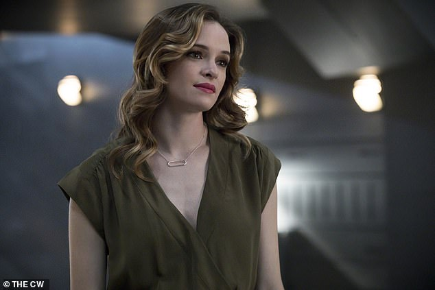 Her big hit show: Here the actress is seen in a scene from TV's The Flash