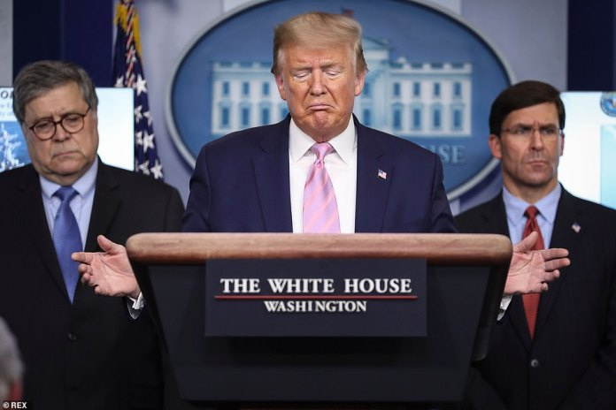 At the White House press conference on Wednesday, Trump said of cruise ship passengers: `` They are dying, so we have to do something ''
