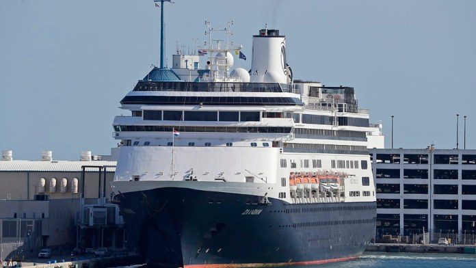 The cruise liner made its way into Everglades harbor just before 5 p.m., much to the relief of those on board