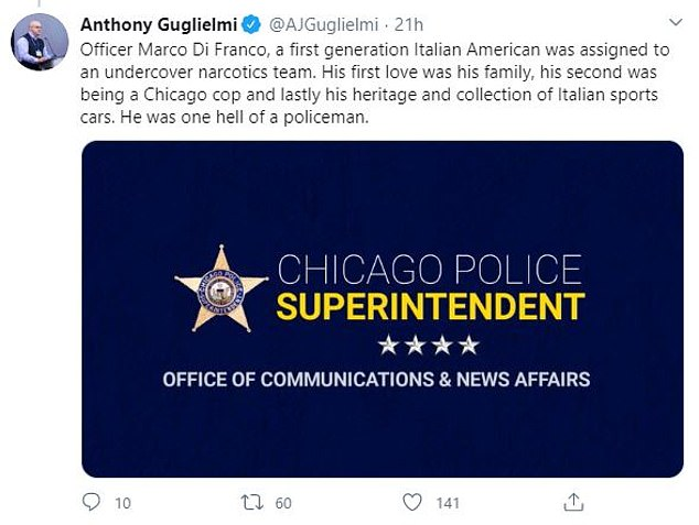 Meanwhile, the Chicago Police Department also reported its first COVID-19 death Thursday, with undercover officer Marco DiFranco succumbing to the virus
