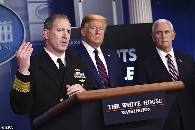 President Trump appointed Rear Admiral John Polowczyk to lead the distribution