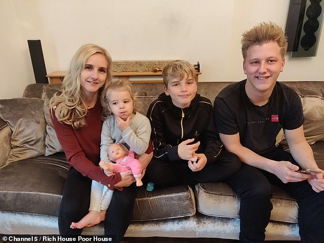 Damien sympathizes with Larissa, who wants the best for her children and takes care of her family with £ 45 per week (pictured with her family)