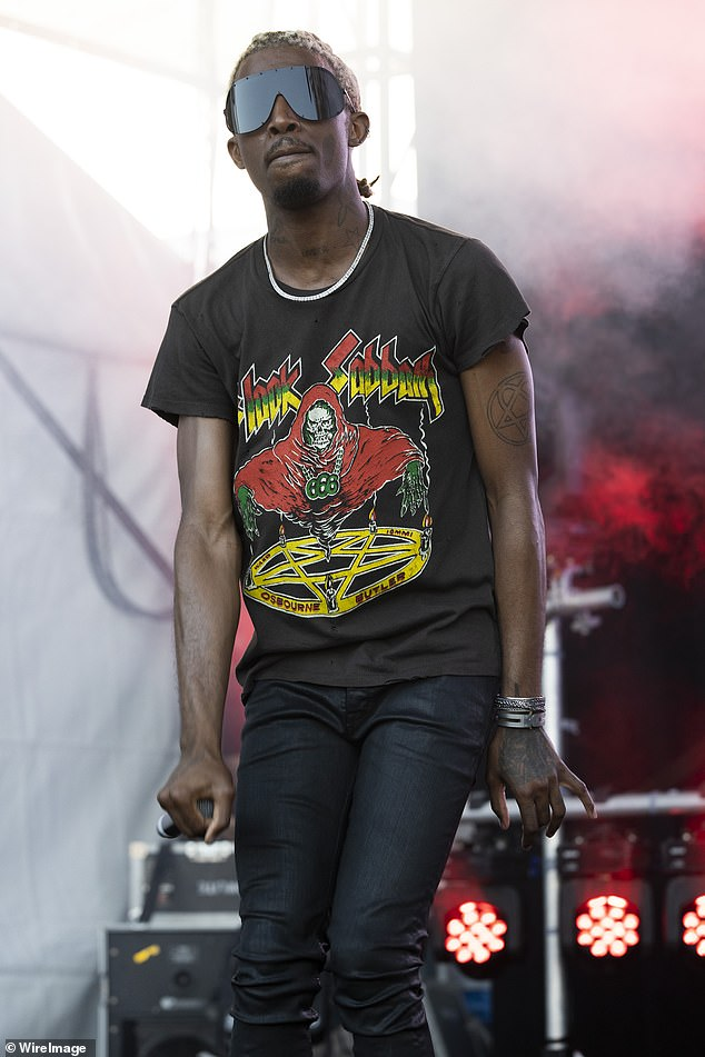 Leading man: Carti wowed the Perth crowd with a vintage Black Sabbath shirt