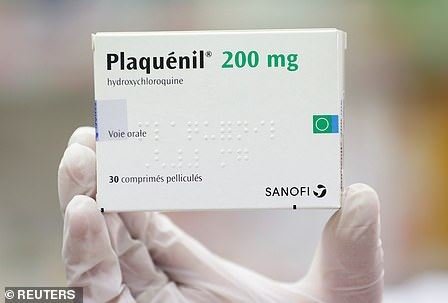 Chloroquine, malaria, is the best treatment for coronaviruses currently available, according to an international survey of thousands of doctors. Pictured: hydroxychloroquine, a version of it, is prescribed in the United States under the brand name Plaquenil